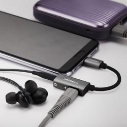ADAPTADOR 2 EN 1 USB 3.1 TIPO C A DC JACK AUDIO 3.5mm