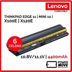 BATERIA LENOVO COMPATIBLE | THINKPAD EDGE 11 | MINI 10 | X100E | X120E | 4400mAh