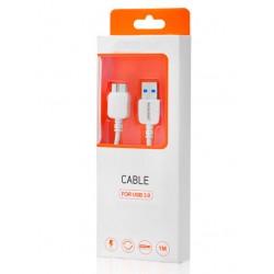 CABLE USB 3.0 A MICRO USB 3.0   BLANCO
