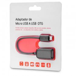 ADAPTADOR OTG MICRO USB | NEGRO