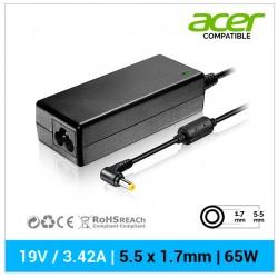 CARGADOR ACER COMPATIBLE | 19V / 3.42A | 5.5 x 1.7mm | 65W