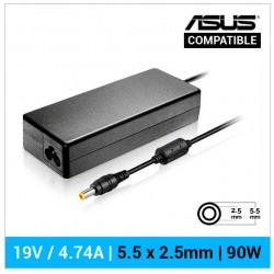 CARGADOR ASUS COMPATIBLE | 19V / 4.74A | 5.5 x 2.5mm | 90W