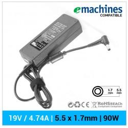CARGADOR EMACHINES COMPATIBLE | 19V  / 4.74A | 5.5 x 1.7mm | 90W