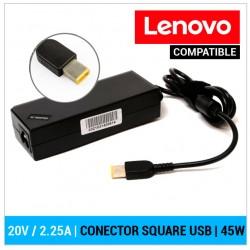 CARGADOR LENOVO COMPATIBLE | 20V / 2.25A | SQUARE (USB)