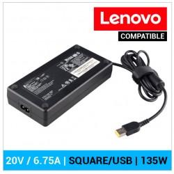 CARGADOR LENOVO COMPATIBLE | 20 / 6.75A | SQUARE (USB) | 135W