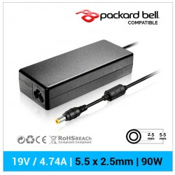 CARGADOR PACKARD BELL COMPATIBLE | 19V / 4.74A | 5.5 x 2.5mm