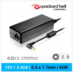 CARGADOR PACKARD BELL COMPATIBLE | 19V  / 4.74A | 5.5 x 1.7mm | 90W
