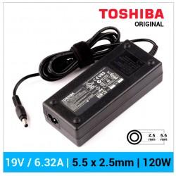 CARGADOR TOSHIBA ORIGINAL | 19V / 6.32A | 5.5 x 2.5mm | 120W