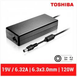 CARGADOR TOSHIBA COMPATIBLE | 19V / 6.3A | 6.3 x 3.0mm | 120W