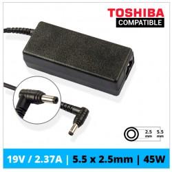 CARGADOR TOSHIBA COMPATIBLE | 19V / 2.37A | 5.5 x 2.5mm | 45W