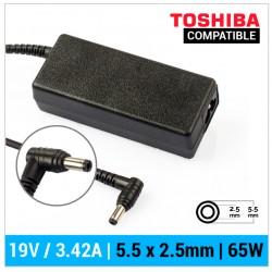 CARGADOR TOSHIBA COMPATIBLE | 19V / 3.42A | 5.5 x 2.5mm | 65W