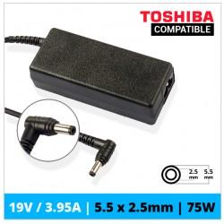 CARGADOR TOSHIBA COMPATIBLE | 19V / 3.95A | 5.5 x 2.5mm | 75W