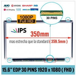 "PANTALLA 15.6"" LED FULL HD 30 PINS IPS NARROW CON BRACKETS"