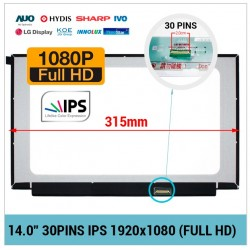 "PANTALLA 14.0"" LED FULL HD 30 PINS IPS NARROW SIN BRACKETS"