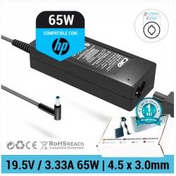 CARGADOR HP COMPATIBLE | 19.5V / 3.33A | 4.5 x 3.0mm | 65W