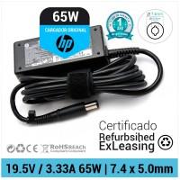 CARGADOR HP ORIGINAL | 19.5V / 3.33A | 7.4 x 5.0mm | 65W ( REFURBISHED )
