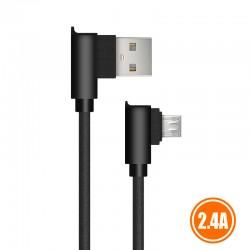 CABLE USB 2.0 A MICRO USB TIPO L 1METRO   NEGRO