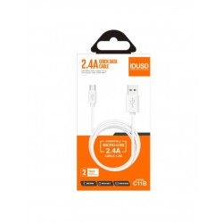 CABLE MICRO USB 1.2M 2.4A | BLANCO