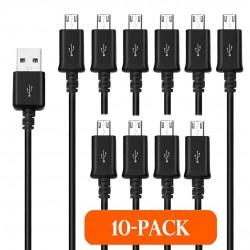 PACK 10 CABLES USB 2.0 A MICRO USB 1M. BULK
