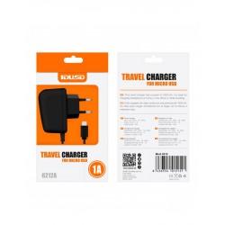 CARGADOR MICRO USB 1000mAh | NEGRO