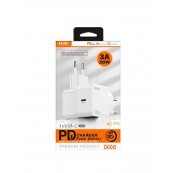 CARGADOR RÁPIDO PD3.0 USB-C 20W - D60B
