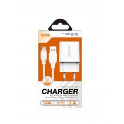 CARGADOR SMART CHARGER 5V 2.4A + CABLE MICRO USB