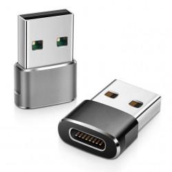 ADAPTADOR MSLFORCE USB A 3.0 MACHO A USB C HEMBRA CON LLAVERO
