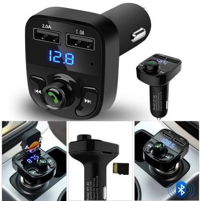 KIT DE COCHE MANOS LIBRES / BLUETOOTH / TRANSMISOR FM / REPRODUCTOR MP3 / CARGADOR USB x2