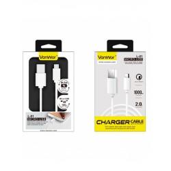 CABLE MICRO USB 1METRO 2A PVC | BLANCO